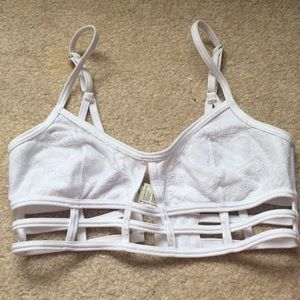 Jersey caged bralet